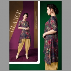 Littledesire Printed Up Down Kurti With Dhoti Salwar