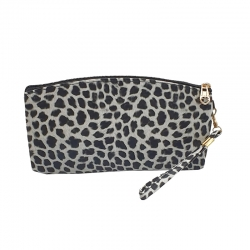 Littledesire Leopard Print Zipper Clutch Wallet