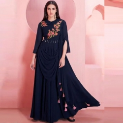 Littledesire Latest Designer Embroidered Work Georgette Gown