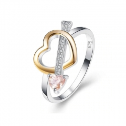 Littledesire Classic Love Heart CZ Silver 925 Ring
