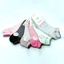Littledesire Striped Women Cotton Socks 4 Pairs