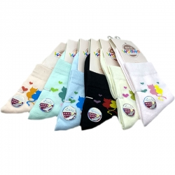 Cute Cartoon Cotton Short Ankle Women Socks 4 Pairs