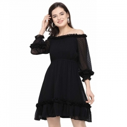 Littledesire Chiffon Transparent Sleeves Sexy Party Dress