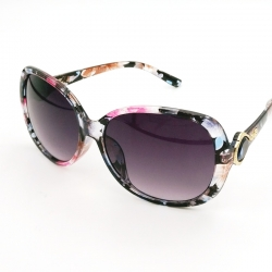 Oval Style Floral Print Women Sunglasses