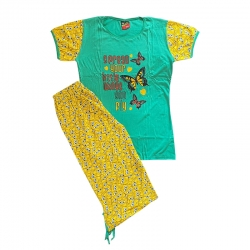 Women Printed Top & Capri Set