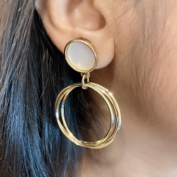 Multi-Layer Circle Round Earrings