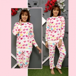 Printed Winter Thick Warm Flannel Pajama Sets