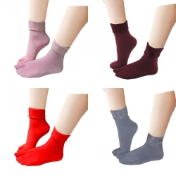 Thermal Soft Faux Fur Women Winter Warm Thumb Socks 5 Pairs