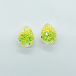Water Drop Sequins Glass Stud Earrings