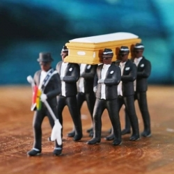 Ghana Funeral Coffin Dancing Pallbearer Team Model 1:64