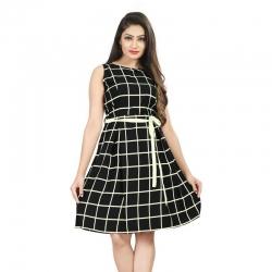 Littledesire Check Printed Short Dress