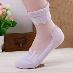 Ultrathin Transparent Lace Short Socks
