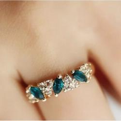 Fashion Noble Diamante Ring