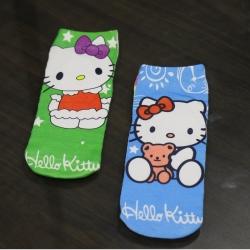 Cute Hello Kitty Socks for Kids 6 to 13 Years - 2 Pairs
