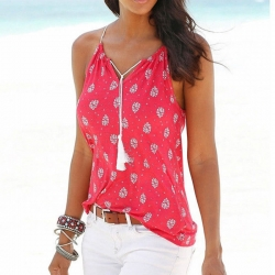 Strap Off Shoulder Sleeveless V-neck Spaghetti Top