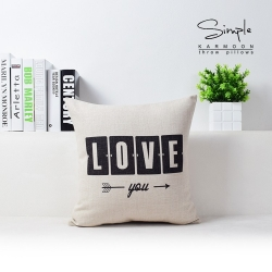 Love Jute Cushion Covers