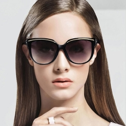 Fashion Mirror Eyebrow Design Sunglasses