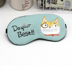 Littledesire Cute Cat Printed  Sleeping Eye Mask