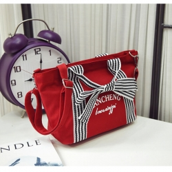 Canvas Bow Design Stylish Shoulder Messenger Bags