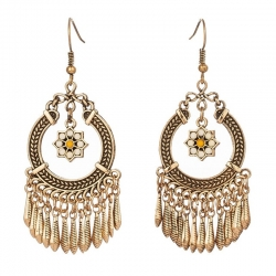 Littledesire Vintage Round Dangle Drop Earring