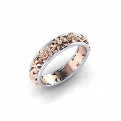 Littledesire Creative Flowers Double Color Ring