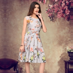 Littledesire Round Neck Floral Print Dress