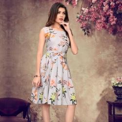 Littledesire Round Neck Floral Print Dress