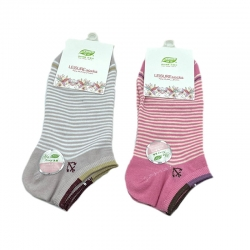 Littledesire Striped Women Cotton Socks 2 Pairs