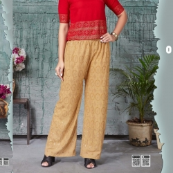 Embroidered Sequence Work Straight Palazzo