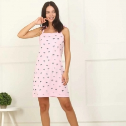 Printed Cotton SleepWear Dress