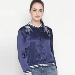 Floral Embroidery Full Sleeve Regular Fit Jacket