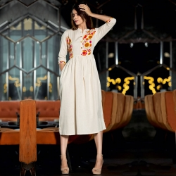 Littledesire Embroidered Designer Cotton Kurta