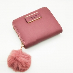 Forever young Mini Purse PU Leather Zipper Wallet