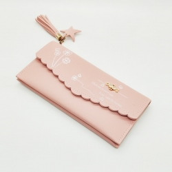 PU Leather Floral Print Clutch Hasp Wallet