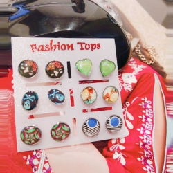 Littledesire Funny Glass Stud Earrings