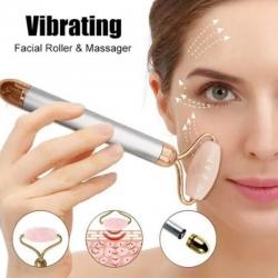 Flawless Contour Vibrating Facial Roller & Massager Rose Quartz