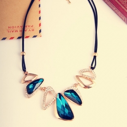 Crystal Geometry Irregular All-Match Necklace