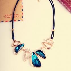Crystal Geometry Irregular All-Match Necklace
