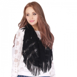 Hollow Out Ring Scarves with Tassel