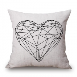Heart Jute Cushion Covers