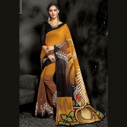 Littledesire Cotton Printed Saree With Blouse