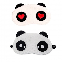 Red Heart And Dot Panda Sleeping Eye Mask (Pack of 2)