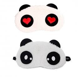 Red Heart And Dot Panda Sleeping Eye Mask (Pack of 2)