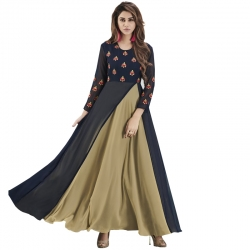 Littledesire New Stylish Embroidered Long Georgette Kurta