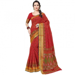 Littledesire Cotton Printed Designer Saree With Blouse