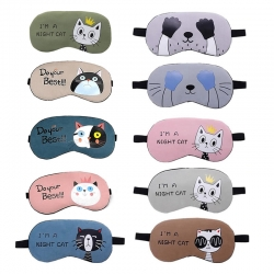 Birthday Return Gift Cute Cat Sleeping Eye Mask 10 Pcs Lot