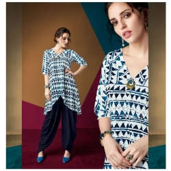 Littledesire Latest Stylish Printed Kurti With Dhoti Salwar