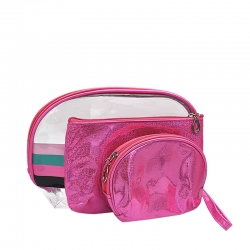 Littledesire Transparent Makeup Cosmetic Pouch Bag 3 Pieces