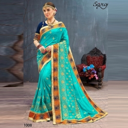 Littledesire Embroidered Silk Party wear Bangalori Saree