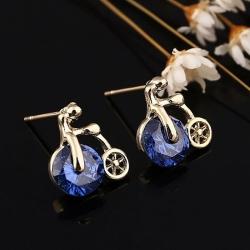 Littledesire Classic Gemstone Round stud earring
